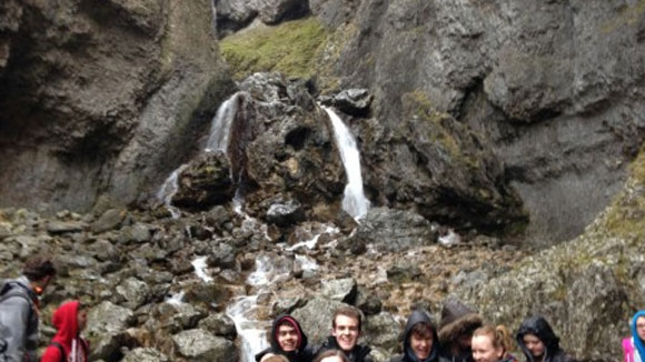 Students at Gordale Scar