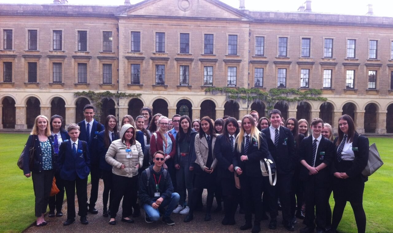 Students from the Sixth Form, Darton College, Dearne ALC, Horizon Community College and Kirk Balk Academy at Magdalen College, University of Oxford.