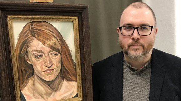 Richard Kitson with portrait